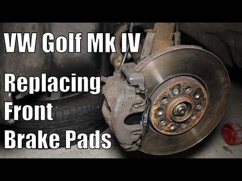 How to replace VW Golf Mk4 Front Brake Pads – Changing VW Golf / Jetta / Audi A3 Brake Pads