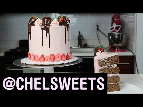 How To Make A Chocolate-Covered Strawberry Cake | Food Network