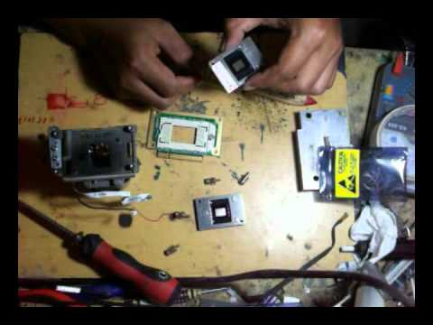 How To Fix White Spots Dlp Projector Display Benq Youtube