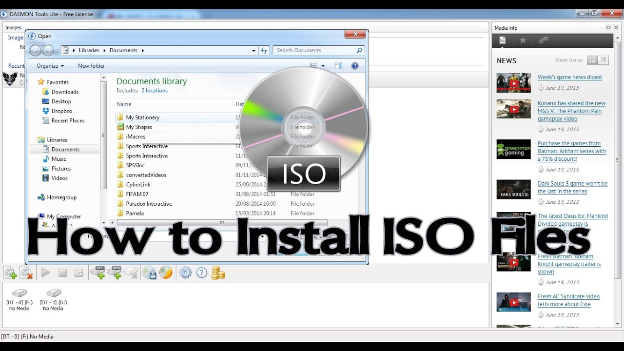 how to mount iso file using daemon tools