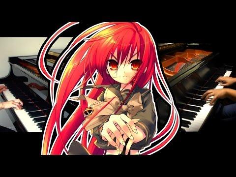 Shakugan no Shana OP1 - Hishoku no Sora (Piano Duet ft. Fantasiex3)