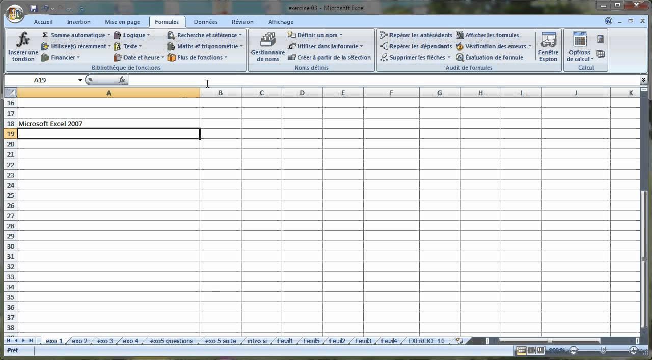 Tutoriel Excel : Saisie de données - YouTube