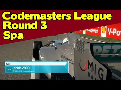 F1 2013 [Official Codemasters League] - Round 3 | Spa