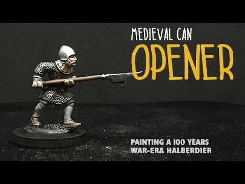 Medieval can opener painting a 100 years war era for A 100 paint
