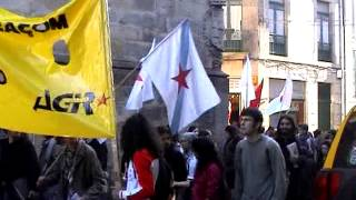 Mobilizaçom estudantil contra o plano Bolonha (Compostela, 13-11-2008)