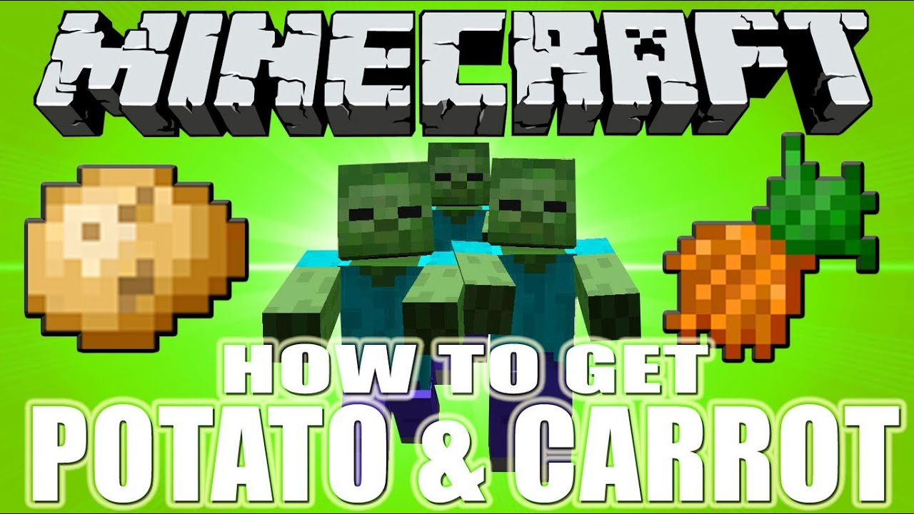 Minecraft How To Get Potato And Carrot Youtube