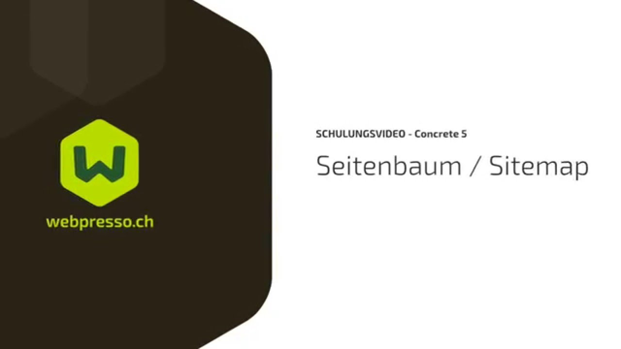 seitenbaum sitemap in concrete5 deutsch webpresso ch youtube