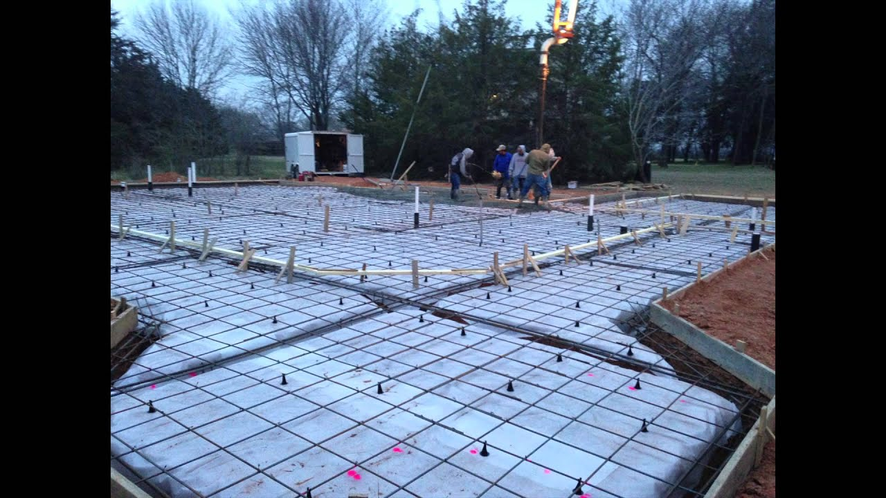 Residential Concrete Slab B J Mcguire Concrete Youtube
