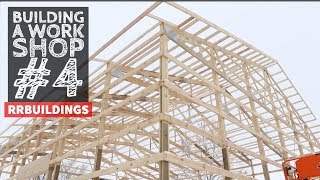 Building a Work Shop: Framing Overhangs and Preparing for Roof