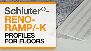 How to install a tile transition on floors: Schluter®-RENO-RAMP/-K
