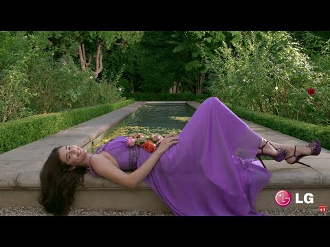 LG 4k HDR OLED TV Demo Video Relax Music. Nature Paris Chicago Singapore Girl In Garden Skiing...