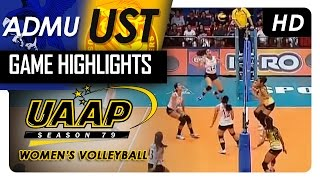ADMU vs. UST | Game Highlights | UAAP 79 WV | March 15, 2017