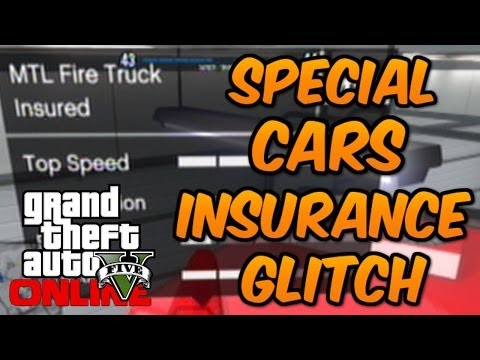 GTA 5 Online - How To Put Insurance On Special Cars (Insure Rare Cars Glitch) ALMOST FREE