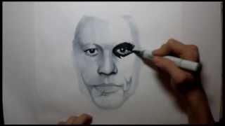 Heath Ledger Joker transformation drawing