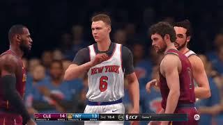 NBA LIVE 18: CAVS VS KNICKS GAMEPLAY!!!