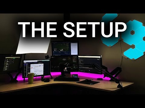The streaming setup of Quin69 (2019)