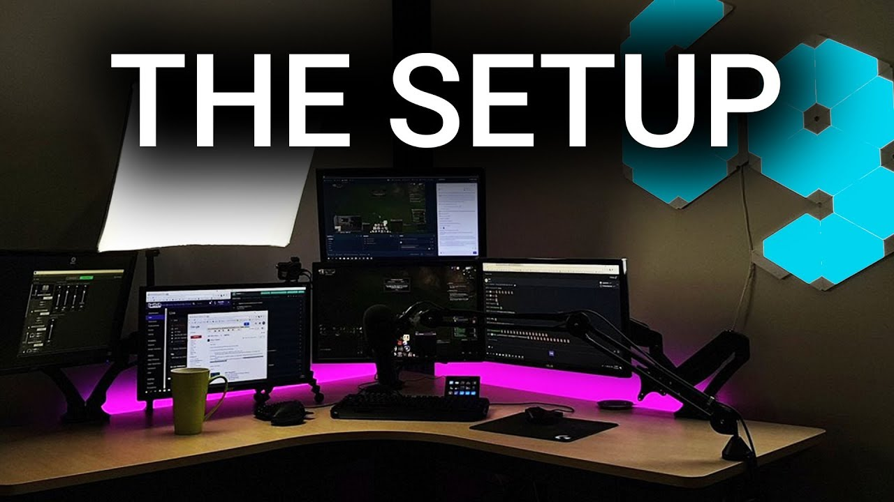 The streaming setup of Quin69 (2019) - YouTube