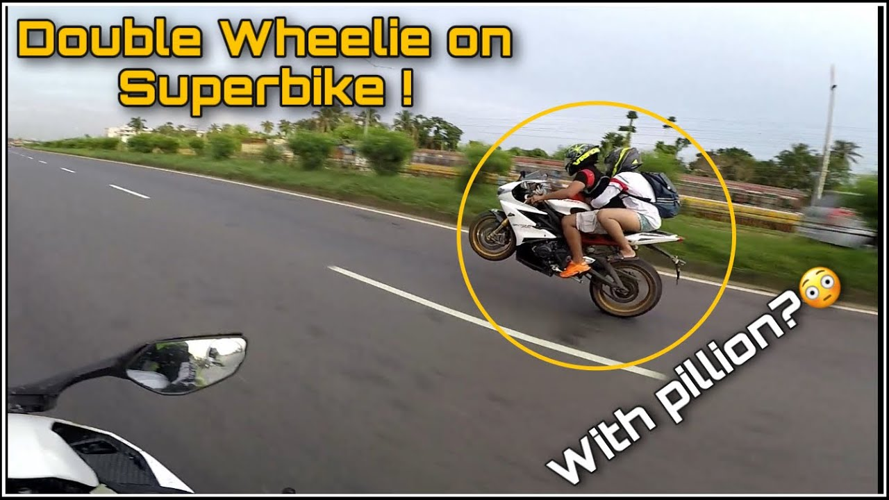 Double Wheelie on SUPERBIKE ! 😍 with pillion ? 😳
