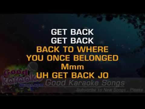 Get Back - The Beatles ( Karaoke Lyrics )