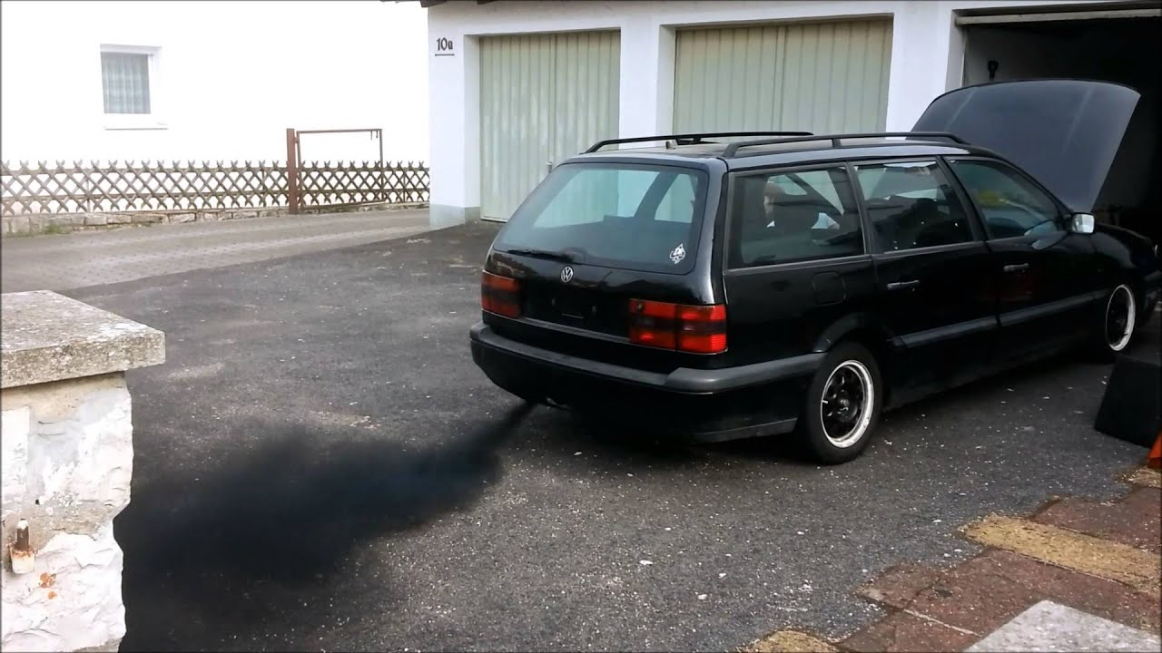 vw passat 35i 1 9 tdi 1z smoking youtube. Black Bedroom Furniture Sets. Home Design Ideas