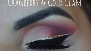 Cranberry & Gold Glam (New Years Eve Tutorial)