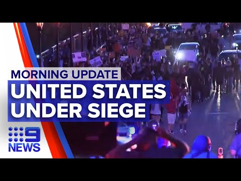 Protests Sweep Across The US, Thousands Protest In London   Nine News Australia
