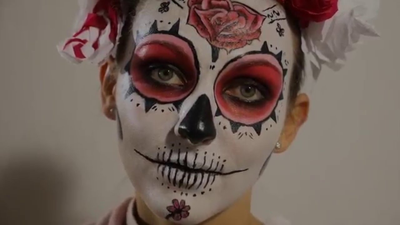 tuto makeup t te de mort mexicaine calavera youtube. Black Bedroom Furniture Sets. Home Design Ideas