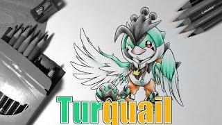 Drawing Turquail ( In a Peaking Onesie )