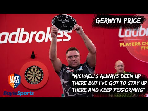 """Gerwyn Price: """"Michael's always been up there but I've got to stay up there and keep performing"""""""