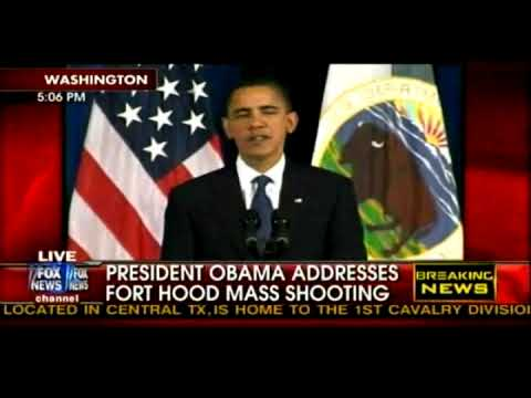 Obama eventually comments on Fort Hood Shooting... After he gives SHOUTOUT..