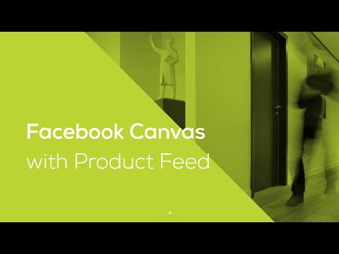 Facebook Canvas with Product Feed