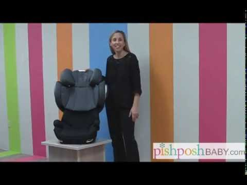 cybex solution q fix booster car seat product review youtube. Black Bedroom Furniture Sets. Home Design Ideas
