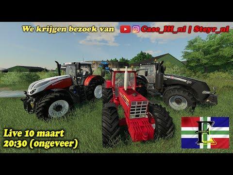 🔴 | LIVE | Farming Simulator 2019 | GRONINGEN | CASEIH Komt Langs! | Eemhuus En Ko Sjotten!