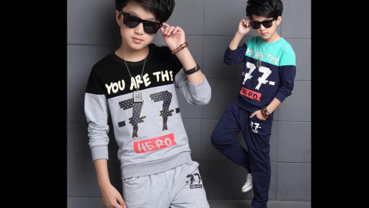 aa068e5ca650c مجموعة وتشكيلة رائعة من ملابس رياضية اولاد ارووع موضة 2018 - YouTube
