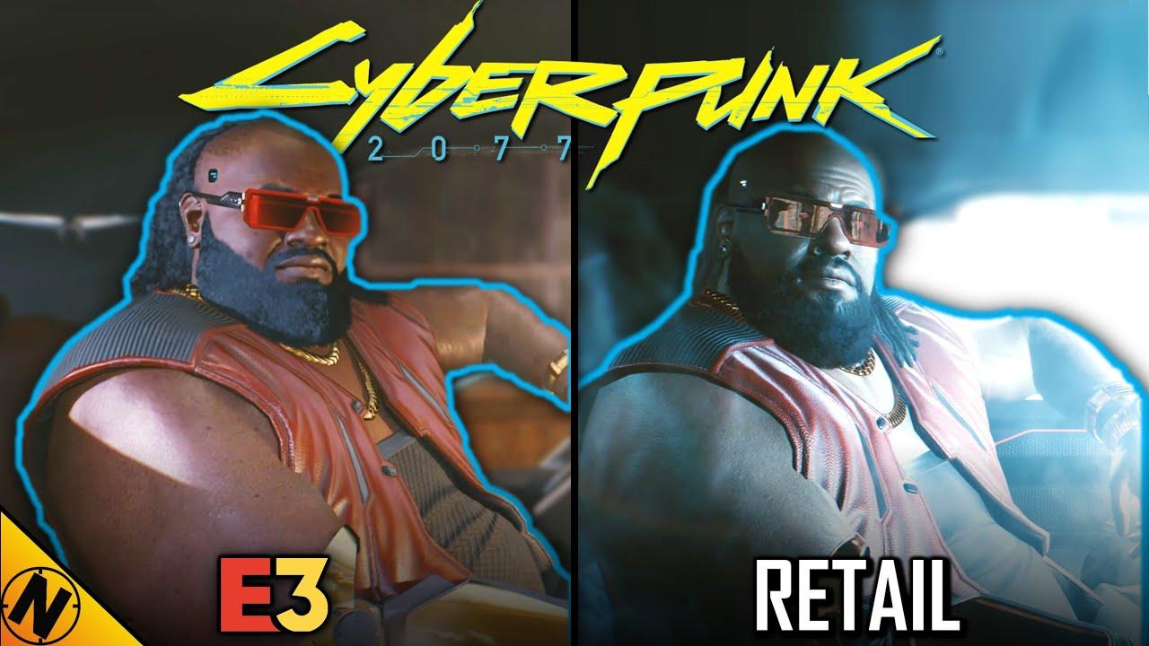 Cyberpunk 2077 Reveal (2018) vs Retail (2020) | Direct Comparison
