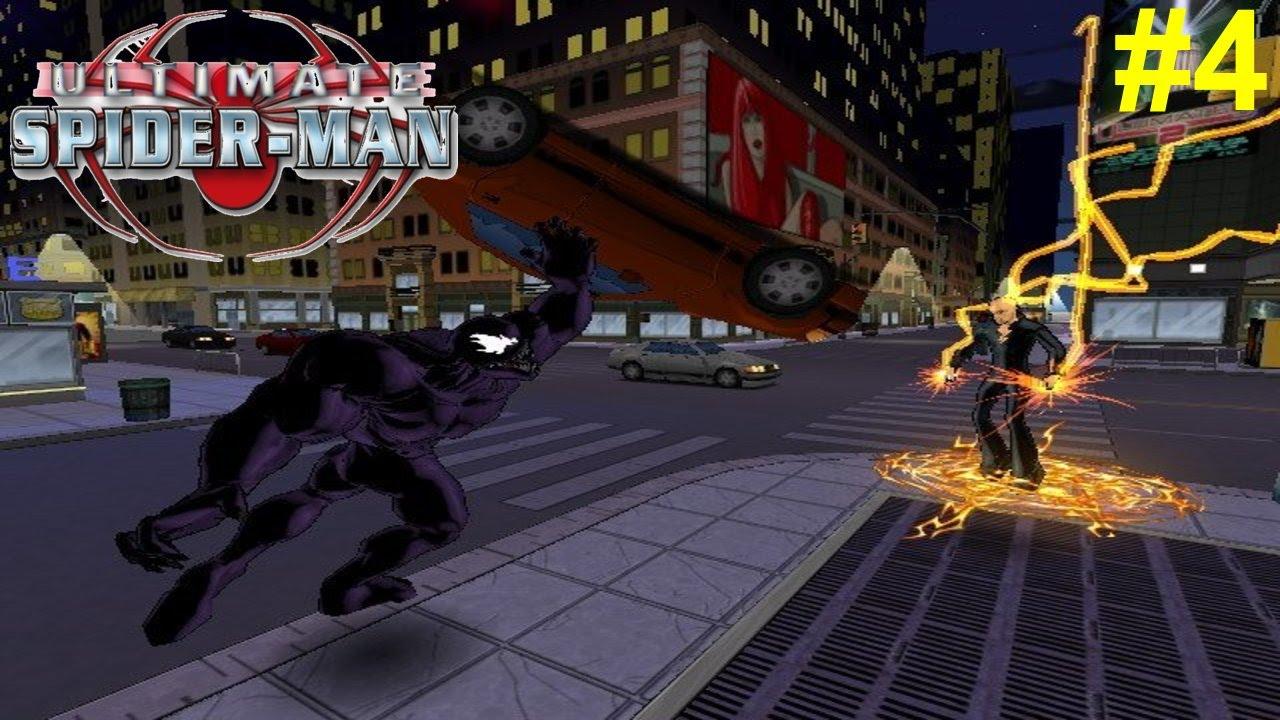 Ultimate Spider-Man PS2 Gameplay #4 [Spidey vs Venom ...