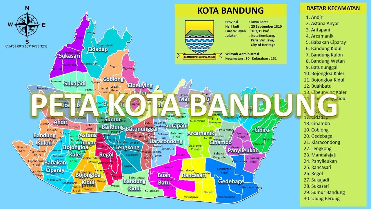 #12.19 Peta Indonesia, Kota Bandung (Kecamatan dan ...