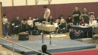 David Frankl on Pommel Horse NJ State Gymnastics Championship 2010.mpg