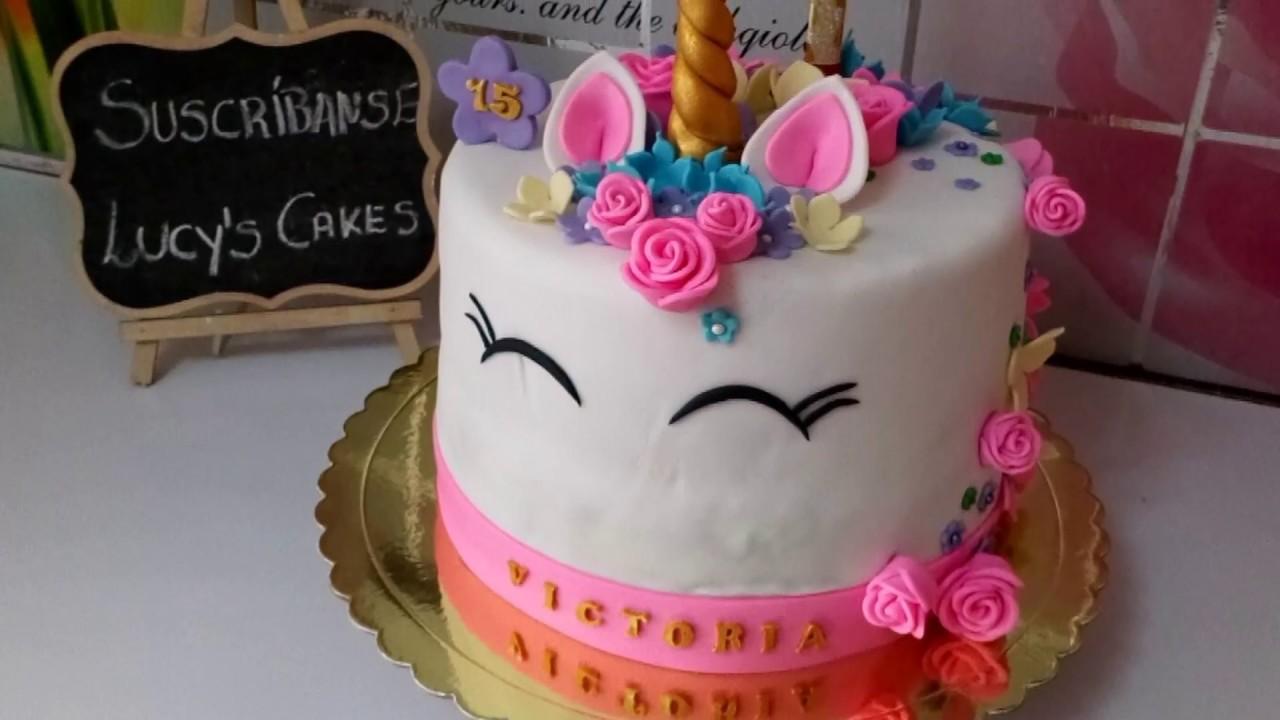 C mo decorar torta de 15 a os de unicornio lucy s cakes for Decoracion 15 anos unicornio