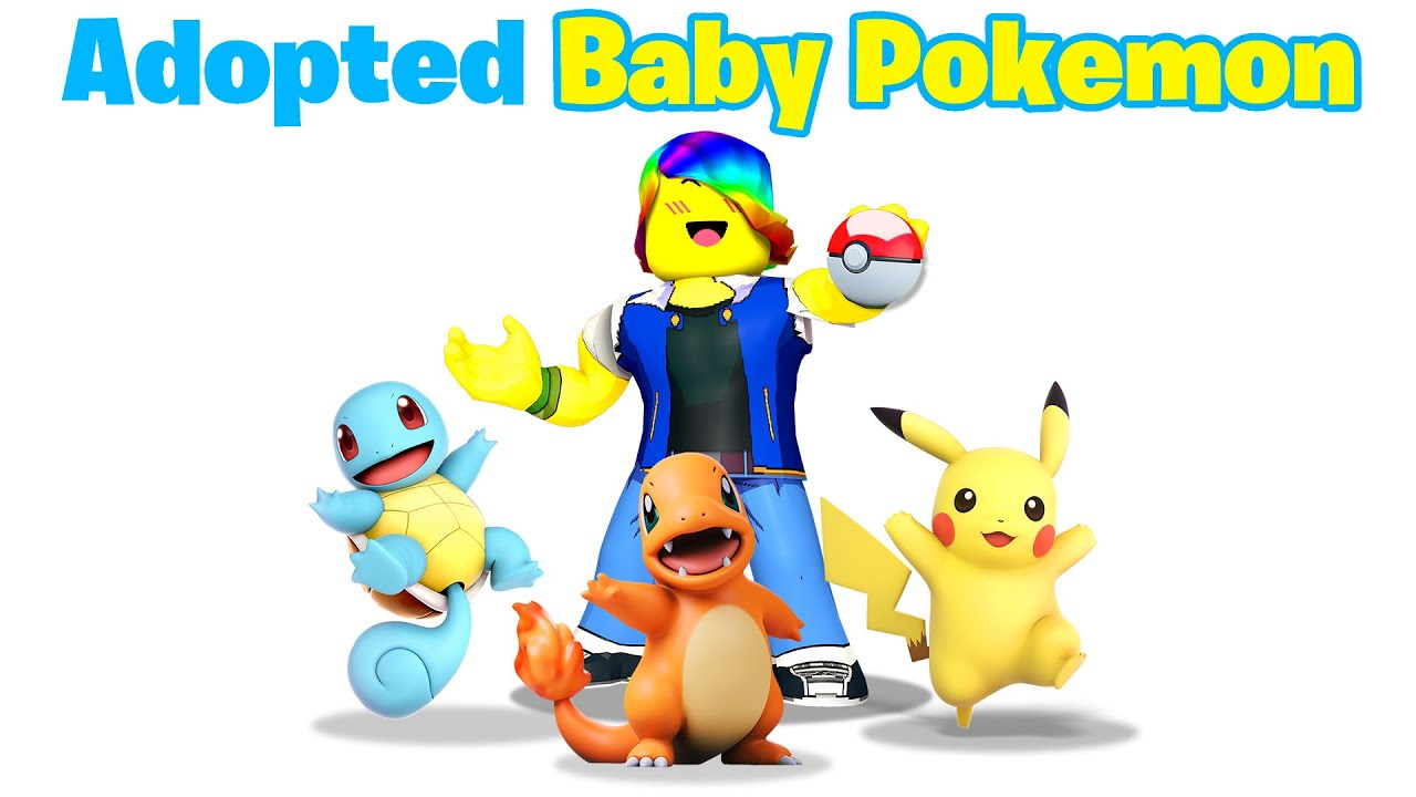 I Adopted Baby POKEMON! 💧🔥⚡ (Roblox)