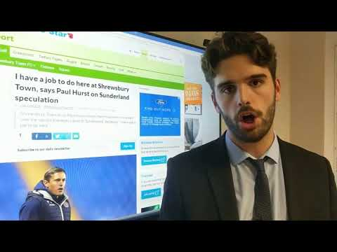 Shrewsbury Update: Paul Hurst offers thoughts on Sunderland links