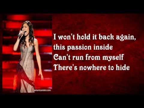 Jessica Sanchez - I Have Nothing with Lyrics