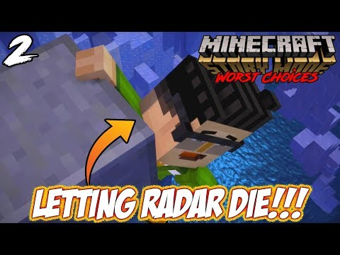 LETTING RADAR DIE!!! -|- WORST CHOICES in Minecraft Story Mo