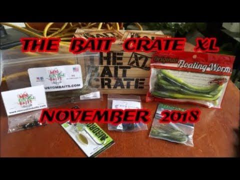 THE BAIT CRATE XL NOVEMBER 2018! BASS UNBOXING!!