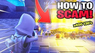 How To Scam 400 130s! Scammer Gets Exposed In Fortnite Save The World
