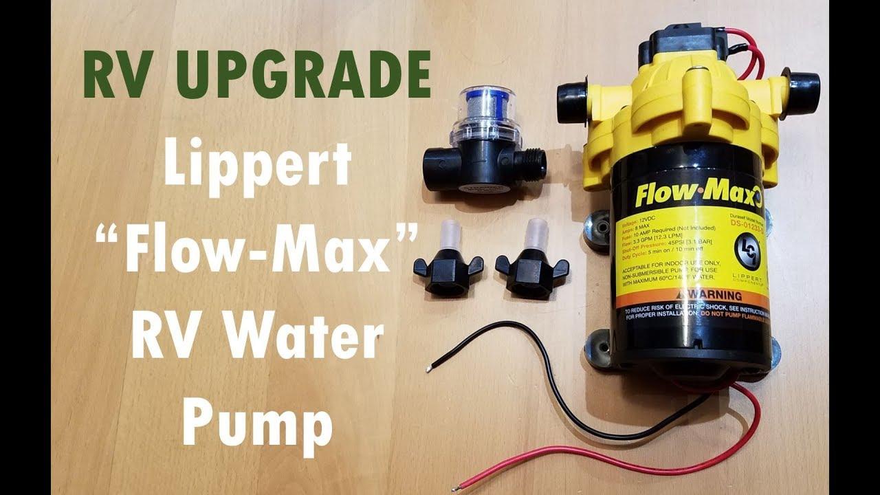 Product Review Lippert Flow Max Water Pump Heartland Rvs