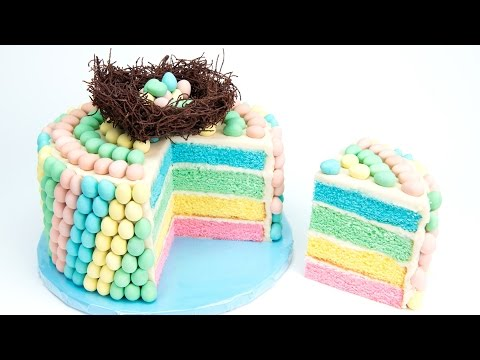 Cadbury Mini Eggs Cake (Chocolate Easter Egg Cake) from Cupcakes and Cardio