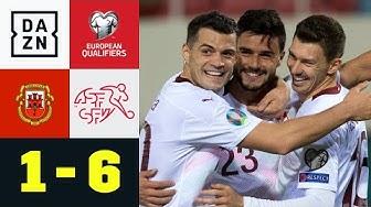Ruben Vargas mit Premierentor, die Schweiz löst EM-Ticket: Gibraltar - Schweiz 1:6 | EM-Quali | DAZN