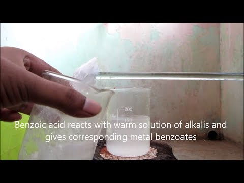 Properties of Benzoic acid