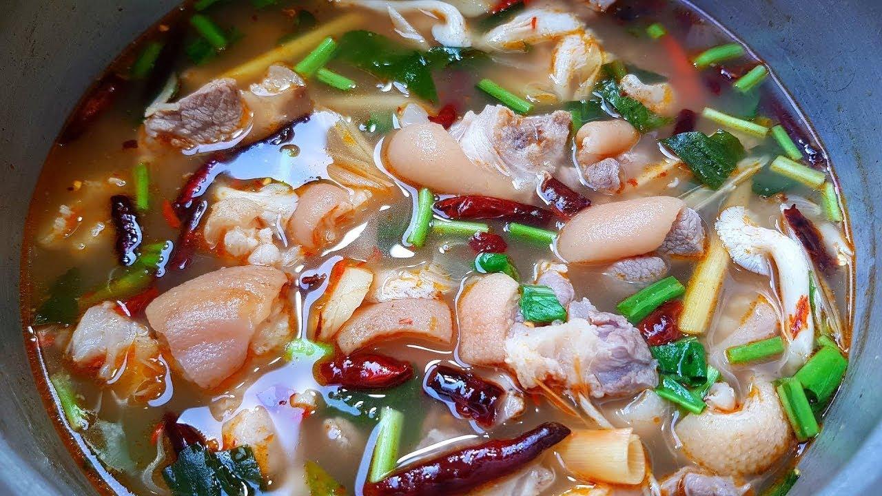 กับข้าวกับปลาโอ 620 : ต้มยำขาหมู แซ่บซี๊ด ซดน้ำร้อนๆ เพิ่มความอบอุ่น Spicy soup pork leg